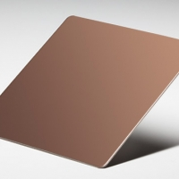 STAINLESS ROSE GOLD MIRROR SHEET