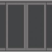 หน้าต่างอลูมิเนียมบานเลื่อนคู่สีเทากระจก 2 ชั้นกันร้อนสีชาเต็มบาน ซีรี่ส์ 2 ขนาด 180*110 cm.