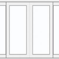 หน้าต่างอลูมิเนียมบานเลื่อนคู่สีขาวกระจก 2 ชั้นกันร้อนสีใสเต็มบาน ซีรี่ส์ 2 ขนาด 180*110 cm.